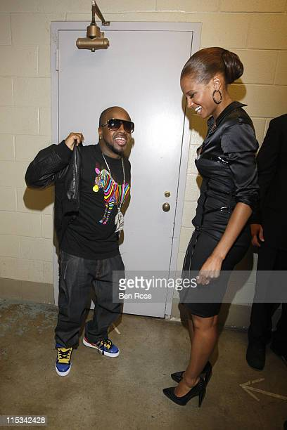 Musician Jermaine Dupri and singer Ciara backstage at the BET Hip Hop Awards 2007 at the Atlanta Civic Center on October 13 2007 in Atlanta GA