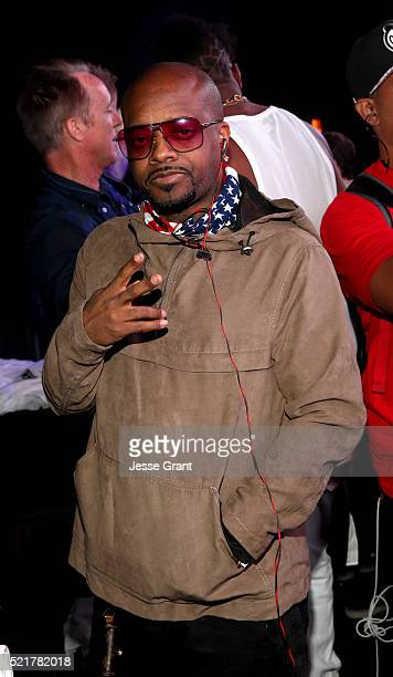 Musician Jermaine Dupri attends the Levi's Brand and RE/DONE Levi's presents NEON CARNIVAL with Tequila Don Julio on April 16 2016 in Thermal...