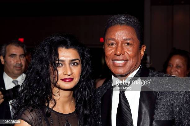 Musician Jermaine Jackson and Halima Rashid attend the 5th annual Children Uniting Nations gala at the JW Marriott Hotel on July 21 2010 in...