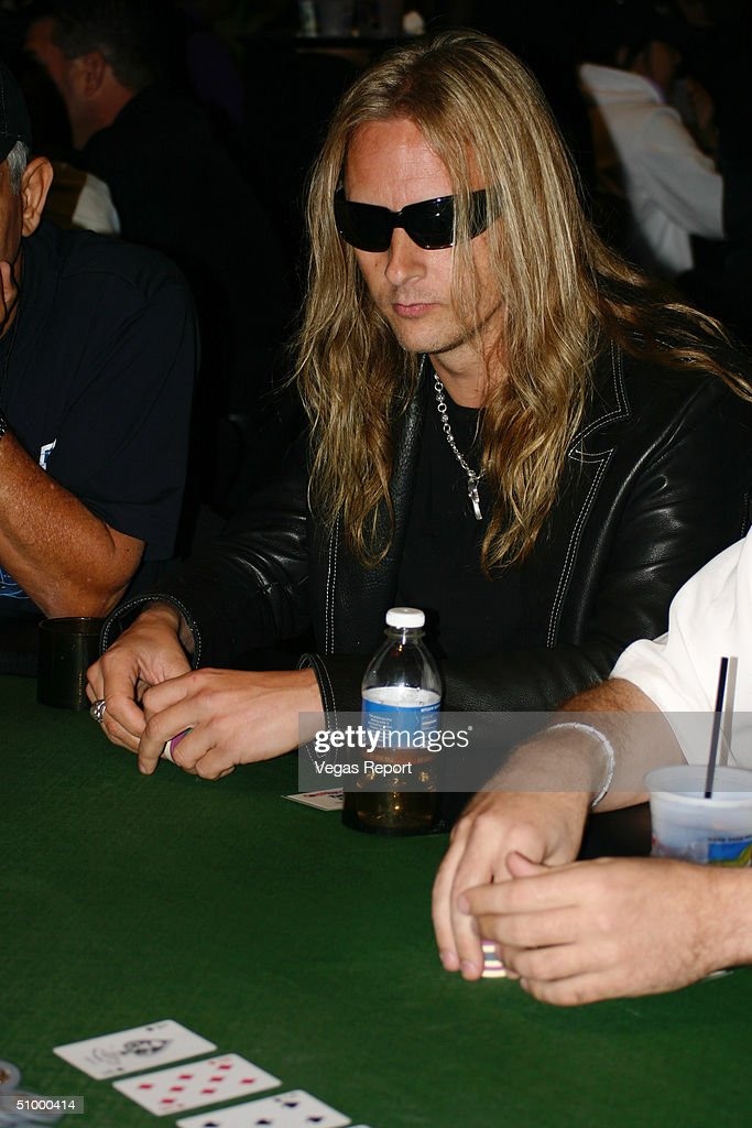 Musician Jerry Cantrel plays poker at the Hard Rock