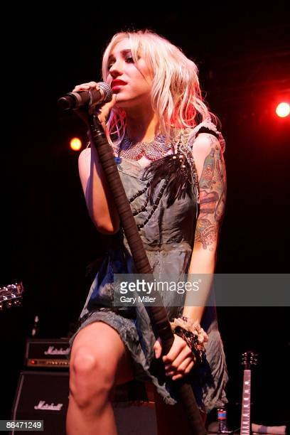 Musician Jess Origliasso of The Veronicas performs in concert at the Austin Music Hall on May 6 2009 in Austin Texas