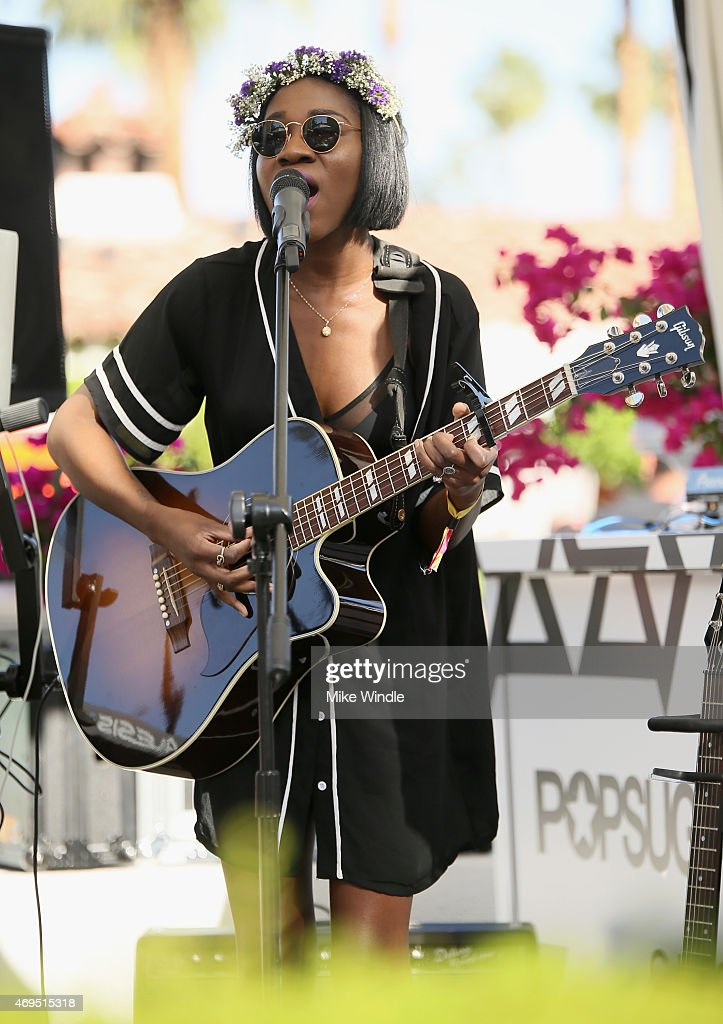Musician Jess Reynolds of James Davis performs during POPSUGAR + SHOPSTYLE'S Cabana Club Pool Parties - Day 2 at the Avalon Hotel on April 12, 2015 in Palm Springs, California.