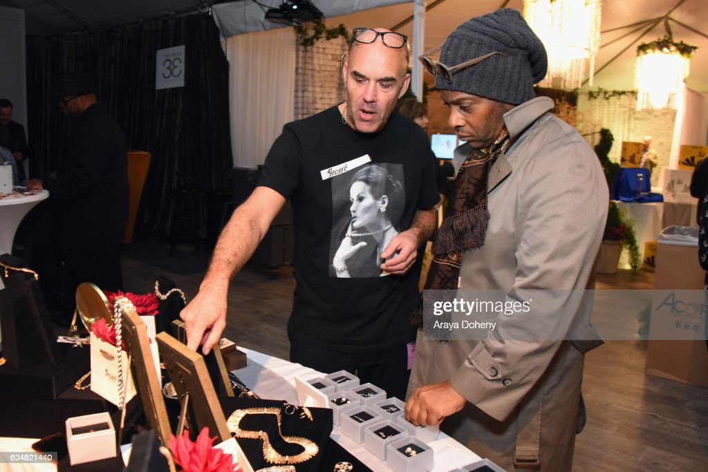 59th grammy awards grammy gift lounge day 3 musician jesse johnson of the time attends grammy gift lounge during the 59th grammy awards at negle Images