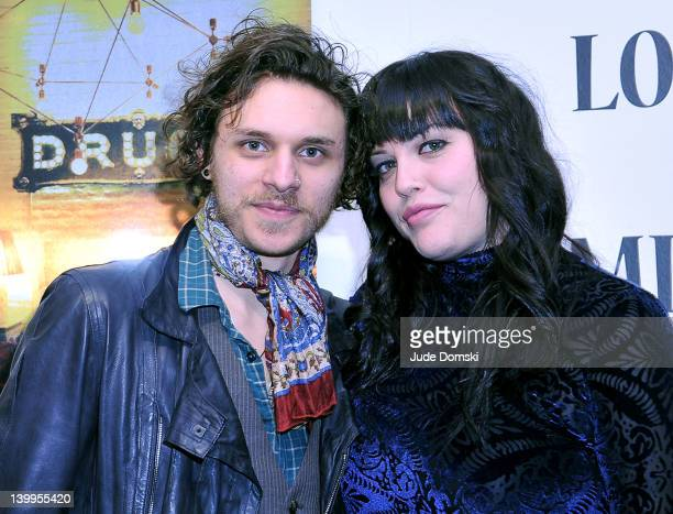 Musician Jesse Kotansky and actress/model Mia Tyler attend the Art Photographer of Mia Tyler exhibit at RIFF's WTF Saturday on February 25 2012 in...