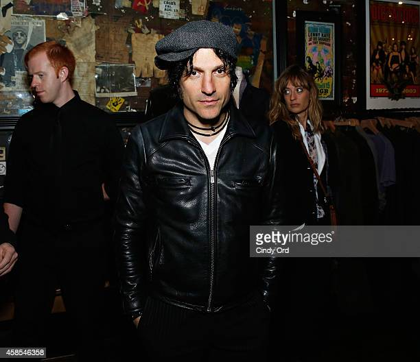 Musician Jesse Malin attends as John Varvatos celebrates the launch of 'JIMMY PAGE By Jimmy Page' at John Varvatos 315 Bowery Boutique on November 6...