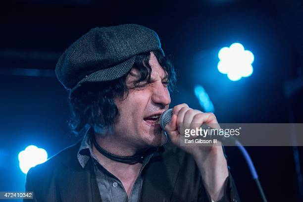 Musician Jesse Malin performs with the band Hollis Brown at Webster Hall on May 6 2015 in New York City