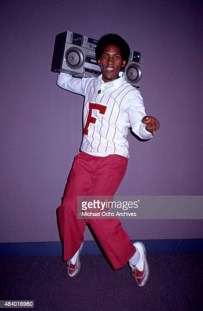Musician Jessie Daniels of the R and B vocal group Force MD's poses for a portrait with a boombox in anticipation of their Love Letters portrait...