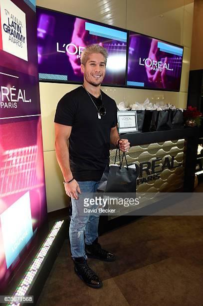 Musician Jesus Alberto Miranda Perez of Chino Nacho attends the gift lounge during the 17th annual Latin Grammy Awards at TMobile Arena on November...