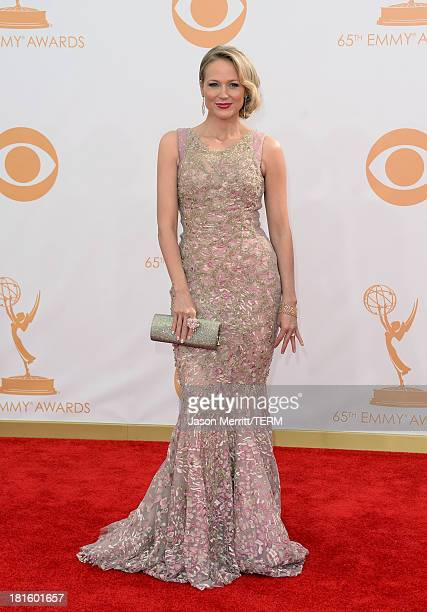 Musician Jewel Kilcher arrives at the 65th Annual Primetime Emmy Awards held at Nokia Theatre LA Live on September 22 2013 in Los Angeles California
