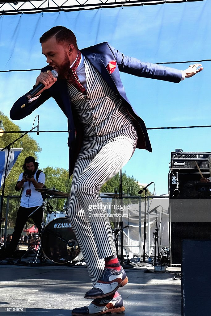 Musician Jidenna performs on stage during 2015 Budweiser Made in America festival at Benjamin Franklin Parkway on September 6, 2015 in Philadelphia, Pennsylvania.