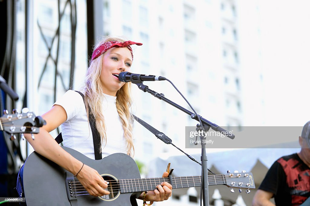 Musician Jill Christine of Jill & Julia performs during the 2015 Life is Beautiful festival on September 27, 2015 in Las Vegas, Nevada.