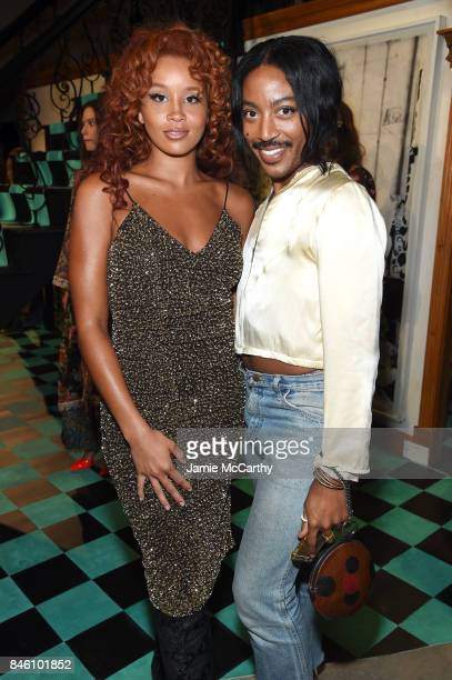 Musician Jillian Hervey and stylist Jeffrey C Williams attend Alice Olivia By Stacey Bendet fashion show during September 2017 New York Fashion Week...
