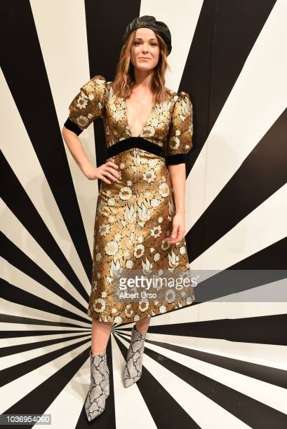 Musician Jillian Jacqueline poses at the Alice Olivia by Stacey Bendet presentation during New York Fashion Week on September 11 2018 in New York City