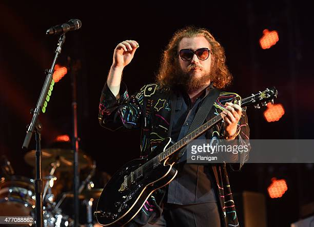 Musician Jim James of My Morning Jacket performs on the 'What' stage during the 2015 Bonnaroo Music Arts Festival on June 13 2015 in Manchester...