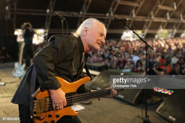 Musician Jim Rodford of The Zombies performs on the Palomino stage during day 1 of 2017 Stagecoach California's Country Music Festival at the Empire...