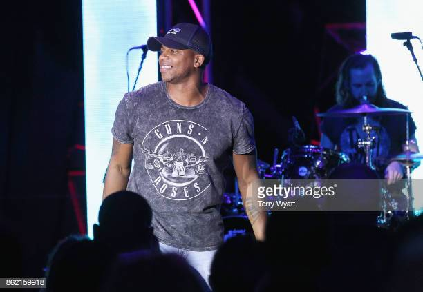 Musician Jimmie Allen performs onstage at the United Talent Agency party during the IEBA 2017 Conference on October 16 2017 in Nashville Tennessee