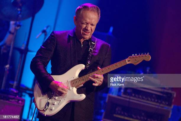 Musician Jimmie Vaughan performs on stage during the first annual ALL ATX concert at ACL Live on September 24 2013 in Austin Texas