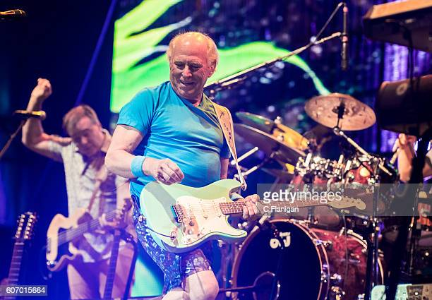 Musician Jimmy Buffet of Jimmy Buffet and the Coral Reefer Band Performs at the Sunset Cliffs Stage during the 2016 KAABOO Del Mar at the Del Mar...