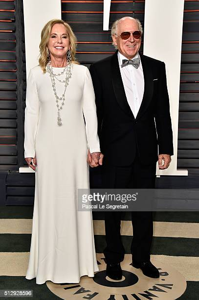 Musician Jimmy Buffett and Jane Slagsvol attend the 2016 Vanity Fair Oscar Party Hosted By Graydon Carter at the Wallis Annenberg Center for the...