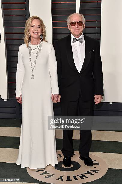 Musician Jimmy Buffett and Jane Slagsvol attend the 2016 Vanity Fair Oscar Party hosted By Graydon Carter at Wallis Annenberg Center for the...
