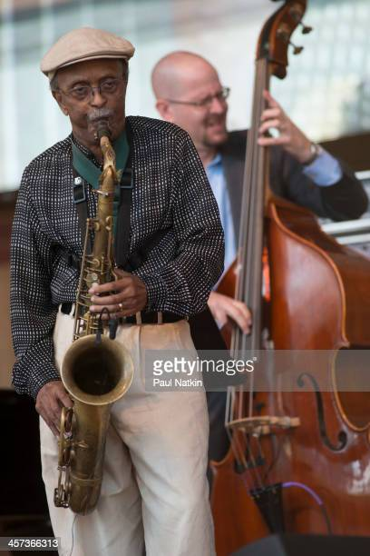 Musician Jimmy Heath performs at the Pritzker Pavilion Chicago Illinois September 1 2013