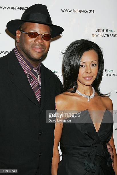Musician Jimmy Jam and his wife Lisa Padilla attend Archbishop Desmond Tutu's 75 birthday gala fundraiser Tutu One Amazing Night of Celebration...