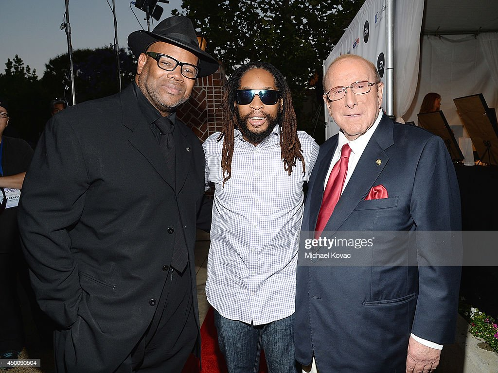 Musician Jimmy Jam, rapper Lil Jon, and producer Clive Davis arrive at City of Hope's 10th Anniversary 'Songs Of Hope' on June 4, 2014 in Brentwood, California.