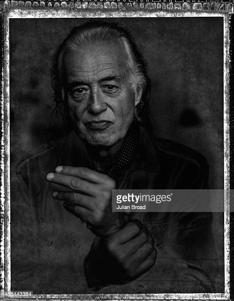 Musician Jimmy Page is photographed for Variety on September 1 2014 in London England