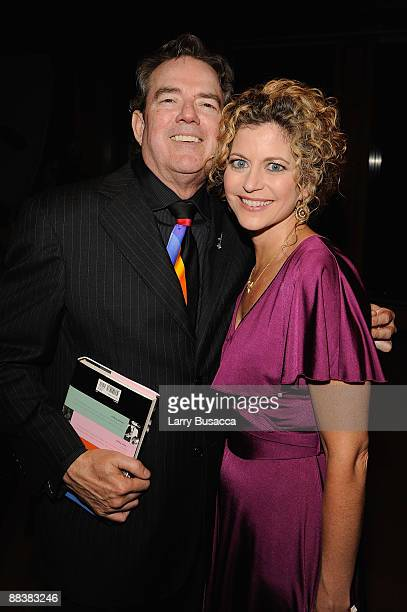 Musician Jimmy Webb and Laura Savini attend the cocktail reception and book signing for Leiber Stoller's HOUND DOG at the Sony Club on June 9 2009 in...