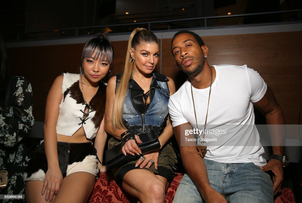 Musician JinJoo Lee of DNCE, singer Fergie, and rapper/actor Ludacris attend the Maxim Super Bowl Party on February 5, 2017 in Houston, Texas.