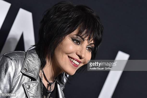 Musician Joan Jett arrives at SAINT LAURENT At The Palladium at Hollywood Palladium on February 10 2016 in Los Angeles California