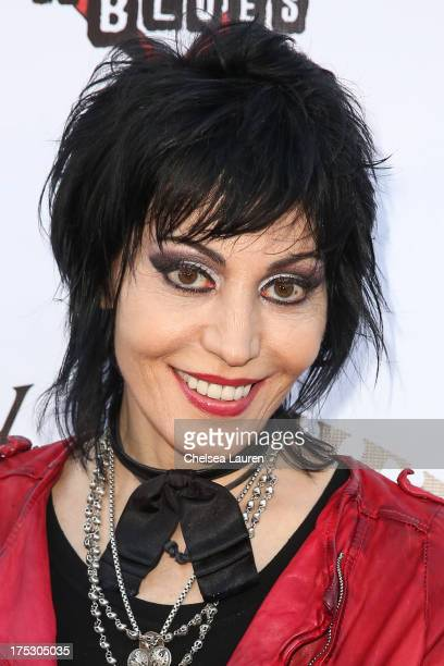 Musician Joan Jett arrives at the 6th annual Sunset Strip Music Festival launch party honoring Joan Jett at House of Blues Sunset Strip on August 1...