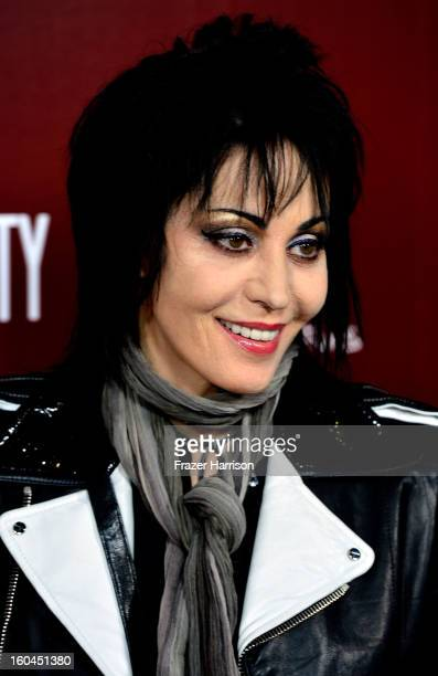 Musician Joan Jett arrives at the Premiere Of 'Sound City' at ArcLight Cinemas Cinerama Dome on January 31 2013 in Hollywood California