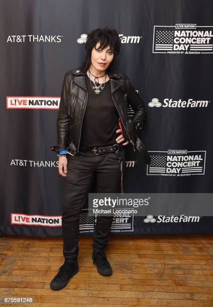 Musician Joan Jett attends Live Nation's celebration of The 3rd Annual National Concert Day at Irving Plaza on May 1 2017 in New York City
