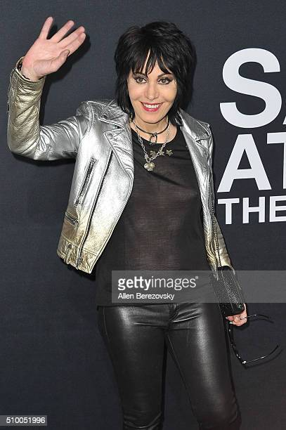 Musician Joan Jett attends SAINT LAURENT At The Palladium at Hollywood Palladium on February 10 2016 in Los Angeles California