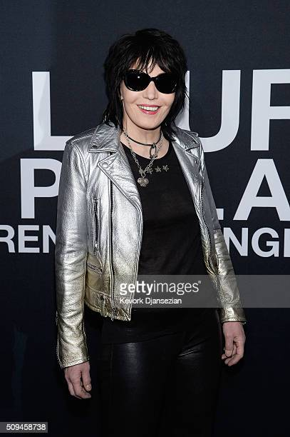 Musician Joan Jett attends the Saint Laurent show at The Hollywood Palladium on February 10 2016 in Los Angeles California
