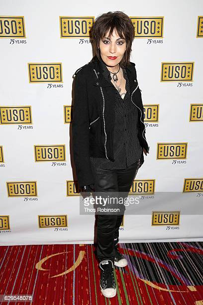 Musician Joan Jett attends the USO 75th Anniversary Armed Forces Gala Gold Medal Dinner at Marriott Marquis Times Square on December 13 2016 in New...