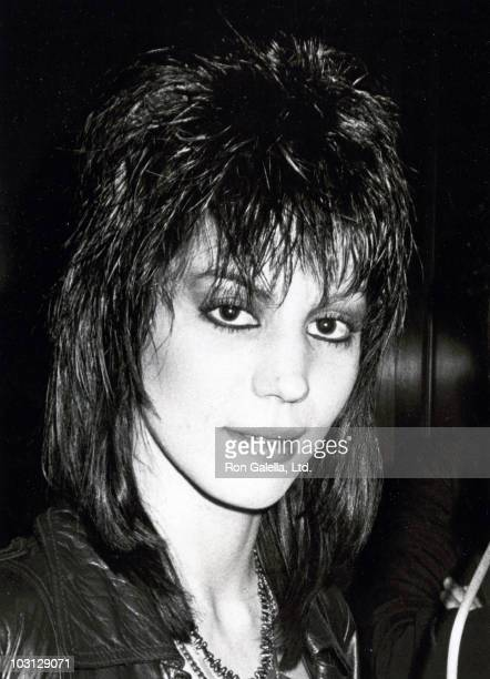 Musician Joan Jett attends Tribute to Michael Jackson on February 7 1984 at the Museum of Natural History in New York City