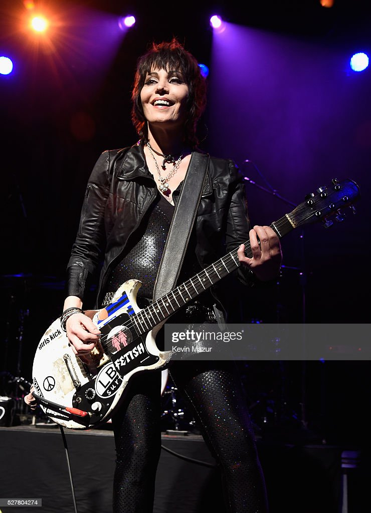 Musician Joan Jett of Joan Jett and the Blackhearts performs onstage during the 2nd Annual National Concert Day presented by Live Nation at Irving Plaza on May 3, 2016 in New York City.