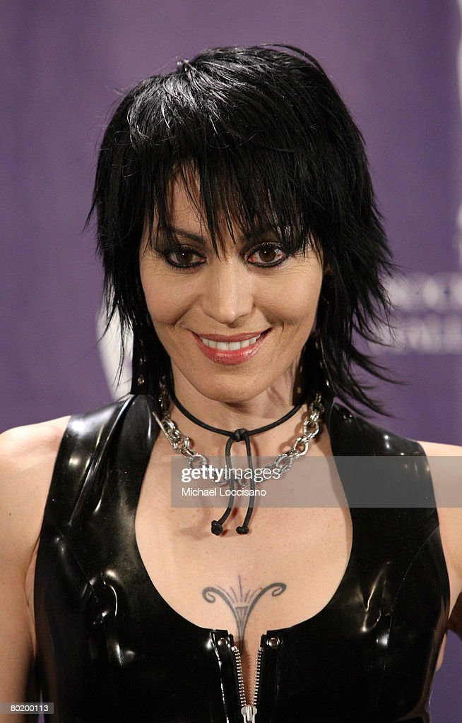 Musician Joan Jett poses in the press room at the 2008 Rock and Roll Hall of Fame Induction Ceremony at The Waldorf-Astoria Hotel on March 10, 2008 in New York City.