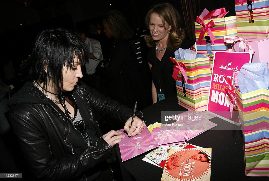 Musician Joan Jett visits the Rock and Roll Hall of Fame Gift Lounge produced by On 3 Productions at the Waldorf-Astoria Hotel on March 10, 2008 in New York City. **EXCLUSIVE