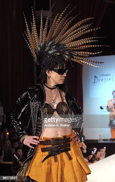 Musician Joan Jett walks the runway at the 8th annual 'Dressed To Kilt' Charity Fashion Show presented by Glenfiddich at M2 Ultra Lounge on April 5...
