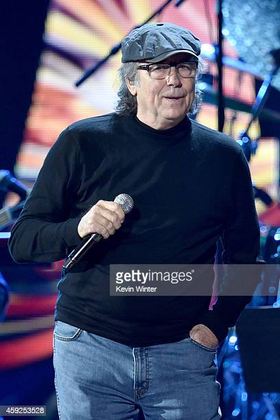 Musician Joan Manuel Serrat performs onstage during rehearsals for the 15th annual Latin GRAMMY Awards at the MGM Grand Garden Arena on November 19...