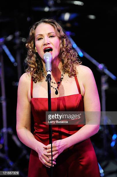 Musician Joan Osborne onstage performs during the 6th Annual Woman's Day Red Dress Awards at the Allen Room in Frederick P Rose Hall Jazz at Lincoln...