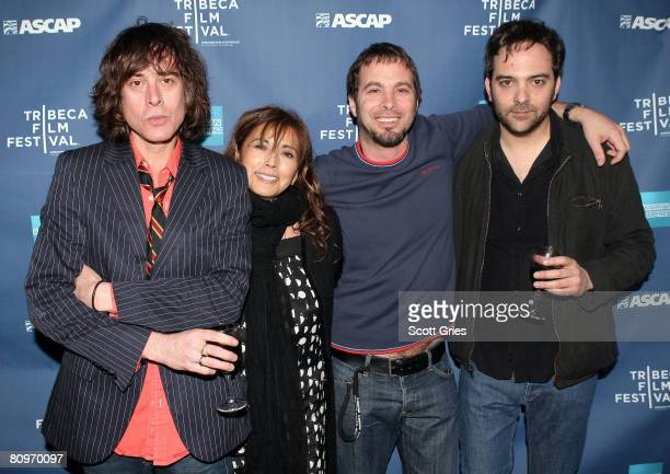 Musician Jody Porter of Fountains of Wayne Loretta Munoz of ASCAP Tom Desavia of ASCAP and musician Adam Schlesinger of Fountains of Wayne pose at...