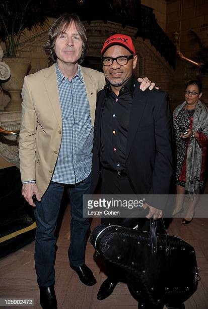 Musician Jody Stephens and GRAMMY nominee and CEO of Soulsville Foundation Kirk Whalum attends the Memphis Music Foundation tribute to Al Bell at...