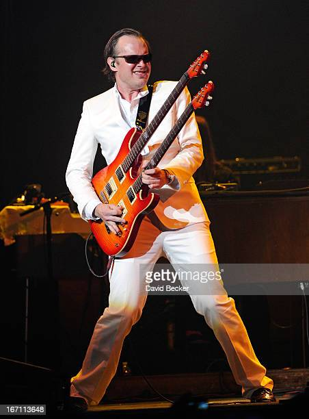 Musician Joe Bonamassa performs at The Pearl concert theater at the Palms Casino Resort on April 20 2013 in Las Vegas Nevada