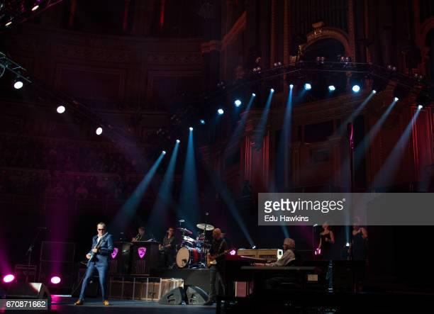 Musician Joe Bonamassa performs with his band at The Royal Albert Hall on April 20 2017 in London United Kingdom