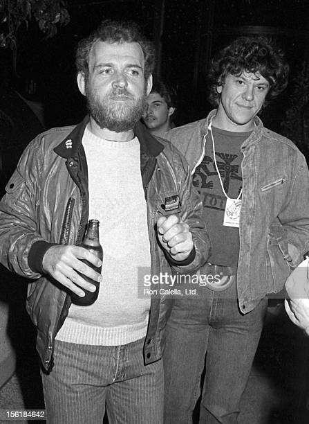 Musician Joe Cocker and concert promoter Michael Lang attend ARMS Concert Benefit Party on December 6 1983 at the Westwood Marquis Hotel in Westwood...
