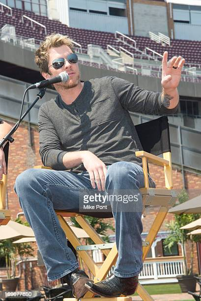Musician Joe Don Rooney attends the press preview of the newly restored Nikon At Jones Beach Theater after being damaged by Superstorm Sandy in...